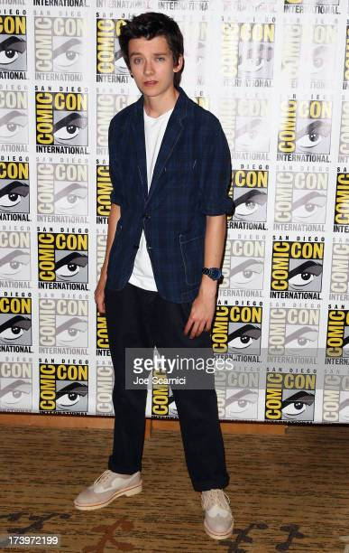 Actor Asa Butterfield attends 'Ender's Game' ComicCon Press Line at San Diego Convention Center on July 18 2013 in San Diego California