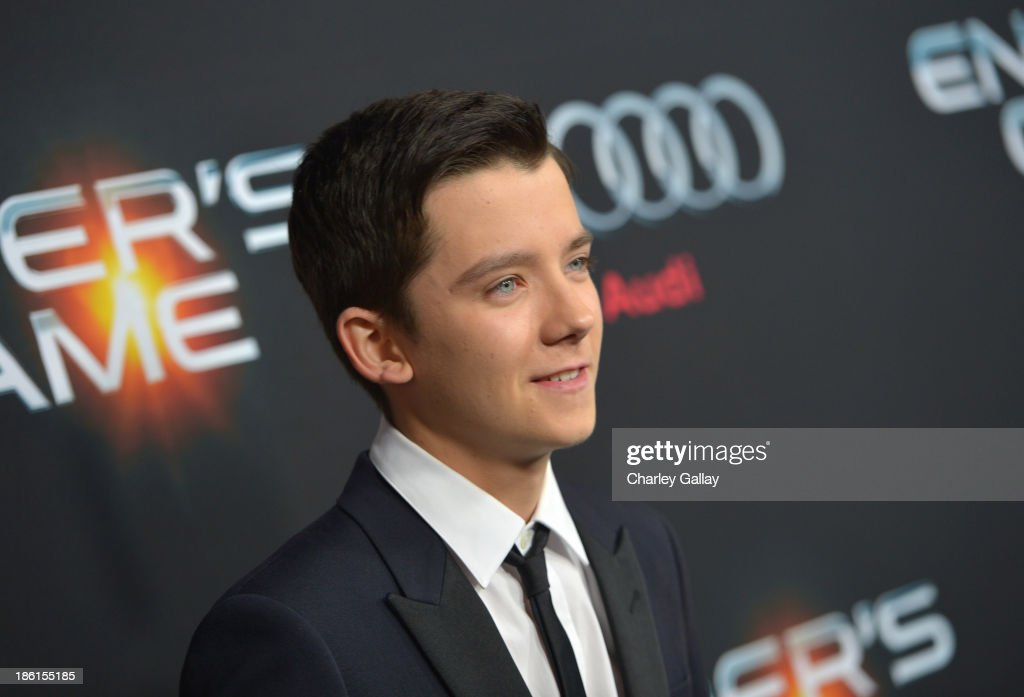 Actor Asa Butterfield attends the premiere of 'Ender's Game' presented by Audi at TCL Chinese Theatre on October 28 2013 in Hollywood California