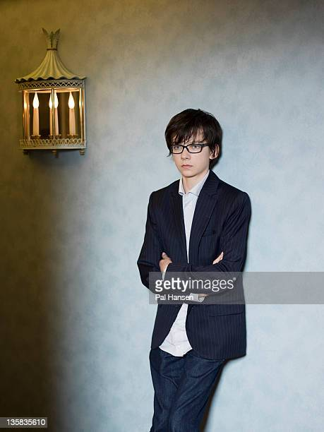 Actor Asa Butterfield is photographed for the Times on November 29 2011 in London England