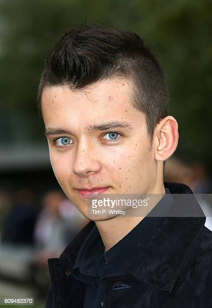 Actor Asa Butterfield poses for a photo during a photocall for Tim Burton's 'Miss Peregrines Home For Peculiar Children' at Potters Field Park on...