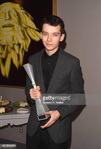Actor Asa Butterfield poses with his Rising Star award at Trustees Theater during Day One of the 17th Annual Savannah Film Festival presented by SCAD...