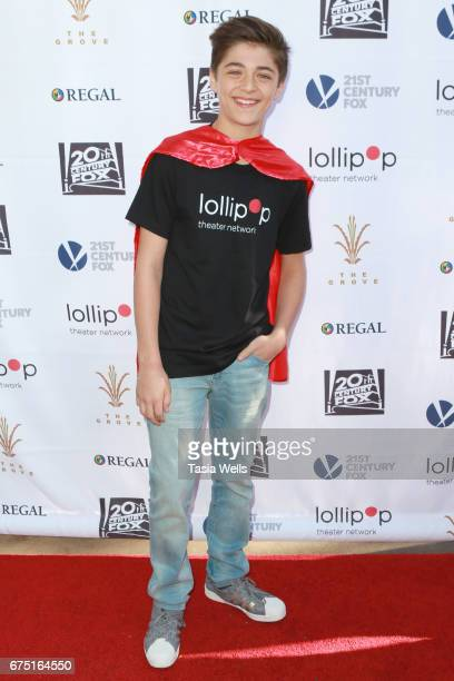 Actor Asher Angel attends The Lollipop Superhero Walk Presented by 20th Century Fox benefitting Lollipop Theater Network at The Grove on April 30...