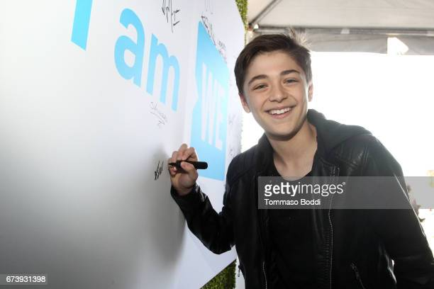 Actor Asher Angel attends WE Day California to celebrate young people changing the world at The Forum on April 27 2017 in Inglewood California