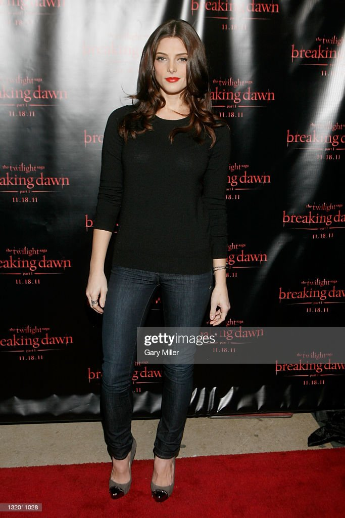 Actor Ashley Greene on the red carpet before the QA for 'The Twilight Saga Breaking Dawn Part 1' Tour at The Palladium Ballroom at Gilley's Dallas on...
