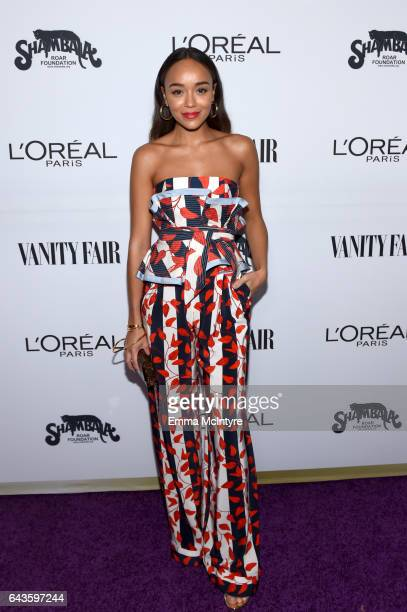 Actor Ashley Madekwe attends Vanity Fair and L'Oreal Paris Toast to Young Hollywood hosted by Dakota Johnson and Krista Smith at Delilah on February...