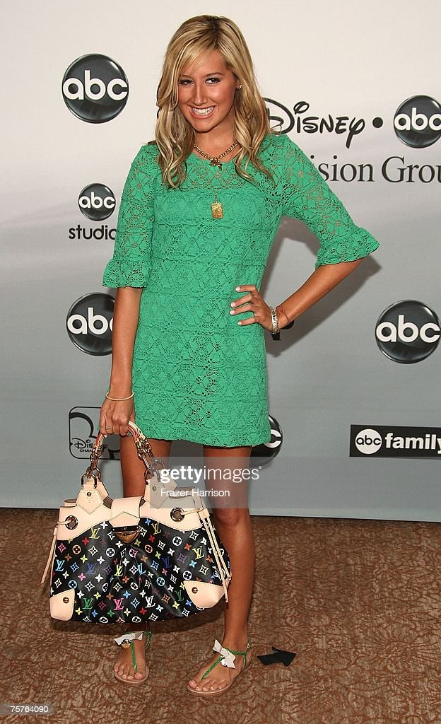 Actor <a gi-track='captionPersonalityLinkClicked' href=/galleries/search?phrase=Ashley+Tisdale&family=editorial&specificpeople=213972 ng-click='$event.stopPropagation()'>Ashley Tisdale</a> attends the 2007 ABC All Star Party held at the Beverly Hilton Hotel, on July 26 2007, in Beverly Hills, California