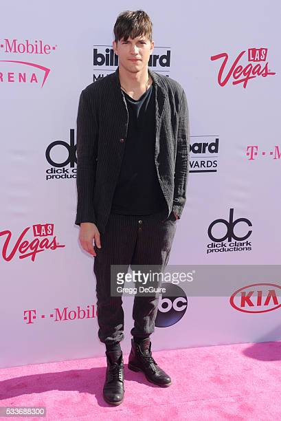 Actor Ashton Kutcher arrives at the 2016 Billboard Music Awards at TMobile Arena on May 22 2016 in Las Vegas Nevada