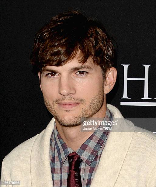 Actor Ashton Kutcher arrives at the screening of Open Road Films and Five Star Feature Films' 'Jobs' at Regal Cinemas LA Live on August 13 2013 in...