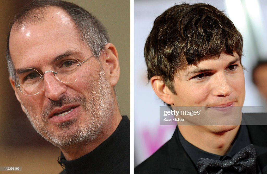 In this composite image a comparison has been made between <a gi-track='captionPersonalityLinkClicked' href=/galleries/search?phrase=Steve+Jobs&family=editorial&specificpeople=204493 ng-click='$event.stopPropagation()'>Steve Jobs</a> (L) and actor <a gi-track='captionPersonalityLinkClicked' href=/galleries/search?phrase=Ashton+Kutcher&family=editorial&specificpeople=202015 ng-click='$event.stopPropagation()'>Ashton Kutcher</a>. <a gi-track='captionPersonalityLinkClicked' href=/galleries/search?phrase=Ashton+Kutcher&family=editorial&specificpeople=202015 ng-click='$event.stopPropagation()'>Ashton Kutcher</a> will reportedly play <a gi-track='captionPersonalityLinkClicked' href=/galleries/search?phrase=Steve+Jobs&family=editorial&specificpeople=204493 ng-click='$event.stopPropagation()'>Steve Jobs</a> in a film biopic directed by Joshua Michael Stern. HOLLYWOOD - JUNE 01: Actor <a gi-track='captionPersonalityLinkClicked' href=/galleries/search?phrase=Ashton+Kutcher&family=editorial&specificpeople=202015 ng-click='$event.stopPropagation()'>Ashton Kutcher</a> arrives to the premiere of Lionsgate's 'Killers' held at ArcLight Cinema's Cinerama Dome on June 1, 2010 in Hollywood, California.