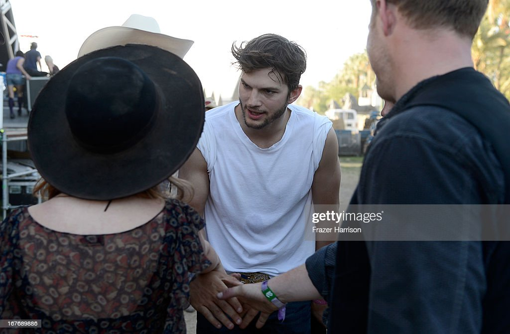 Actor Ashton Kutcher attends 2013 Stagecoach: California's Country Music Festival held at The Empire Polo Club on April 27, 2013 in Indio, California.