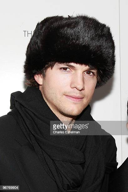 Actor Ashton Kutcher attends a screening of 'Happy Tears' hosted by the Cinema Society and Donna Karan at The Museum of Modern Art on February 16...