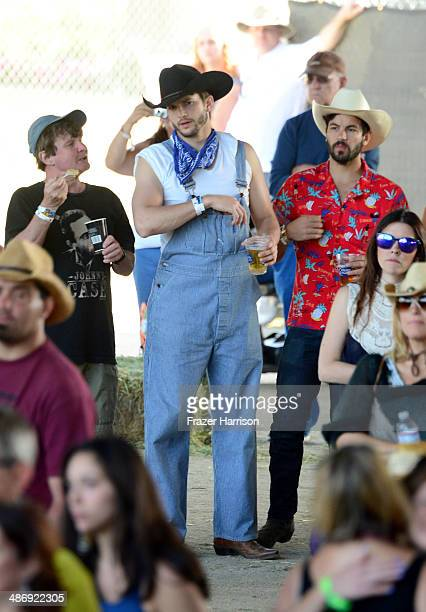 Actor Ashton Kutcher attends day 2 of 2014 Stagecoach California's Country Music Festival at the Empire Polo Club on April 26 2014 in Indio California