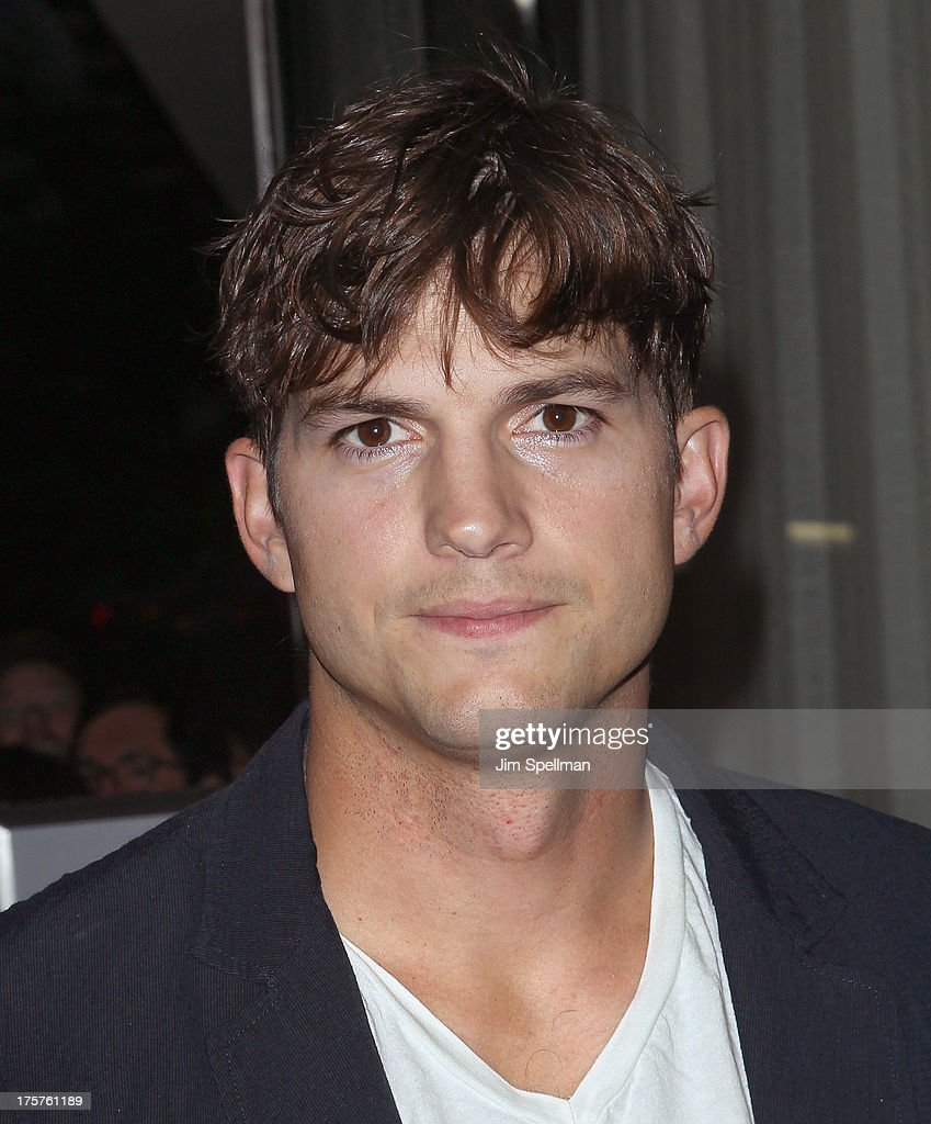 Actor <a gi-track='captionPersonalityLinkClicked' href=/galleries/search?phrase=Ashton+Kutcher&family=editorial&specificpeople=202015 ng-click='$event.stopPropagation()'>Ashton Kutcher</a> attends 'Jobs' New York Premiere at MOMA on August 7, 2013 in New York City.