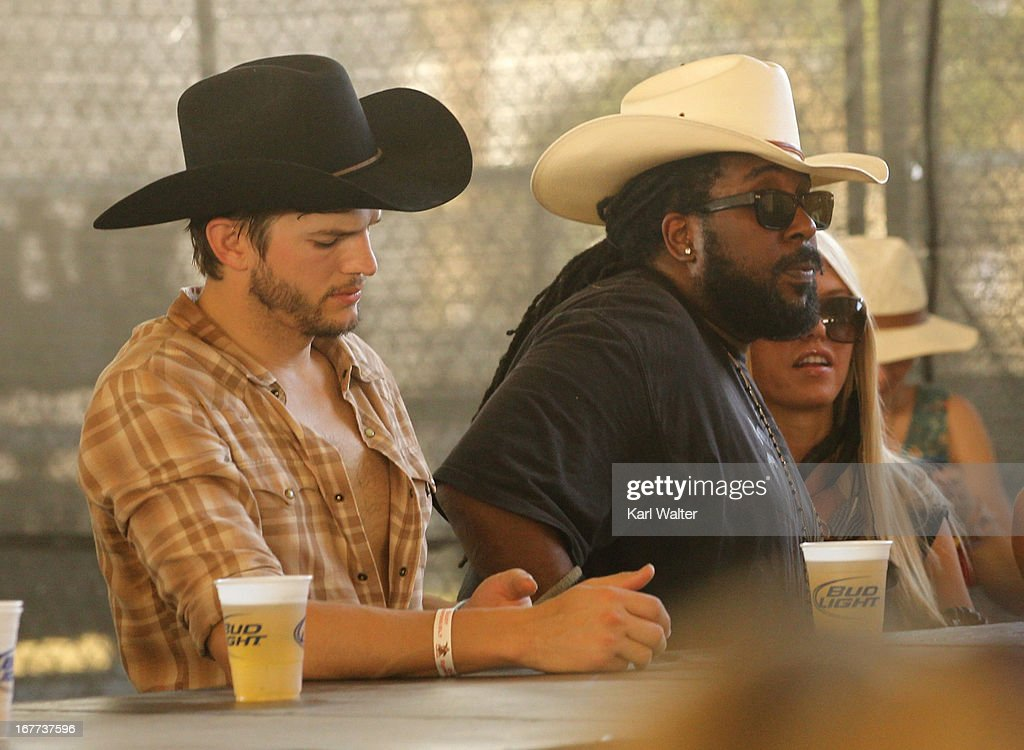 Actor Ashton Kutcher attends the 2013 Stagecoach: California's Country Music Festival held at The Empire Polo Club on April 28, 2013 in Indio, California.