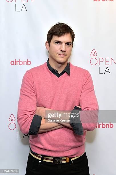 Actor Ashton Kutcher attends The Game Plan Strategies for Entrepreneurs at The Orpheum Theatre during Airbnb Open Day 3 on November 19 2016 in Los...