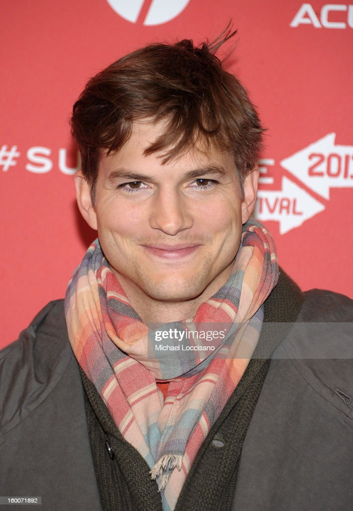 Actor <a gi-track='captionPersonalityLinkClicked' href=/galleries/search?phrase=Ashton+Kutcher&family=editorial&specificpeople=202015 ng-click='$event.stopPropagation()'>Ashton Kutcher</a> attends the 'jOBS' Premiere during the 2013 Sundance Film Festival at Eccles Center Theatre on January 25, 2013 in Park City, Utah.