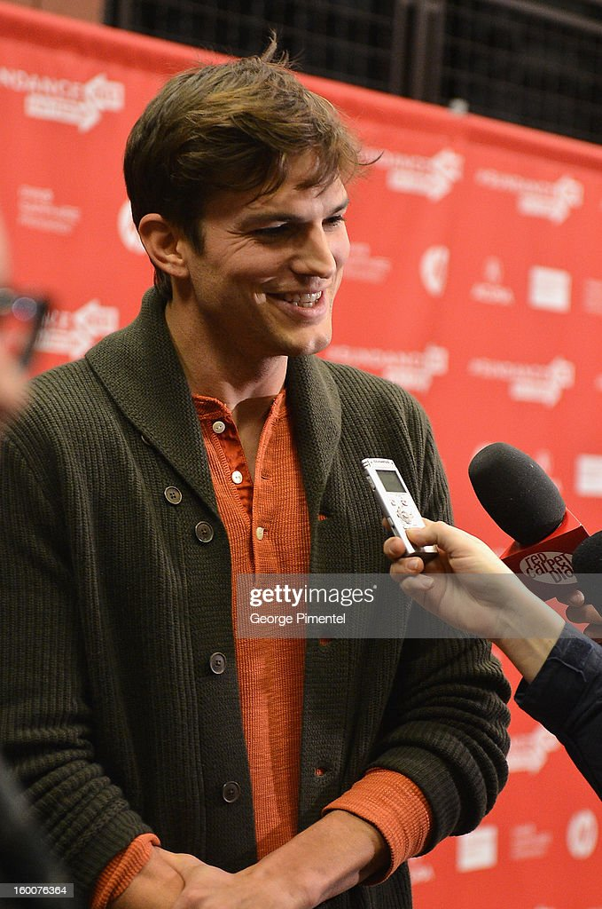 Actor Ashton Kutcher attends the 'jOBS' Premiere during the 2013 Sundance Film Festival at Eccles Center Theatre on January 25, 2013 in Park City, Utah.