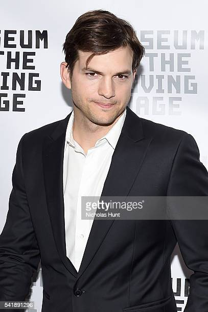 Actor Ashton Kutcher attends the Museum of the Moving Image honoring Netflix Chief Content Officer Ted Sarandos and Seth Meyers at St Regis Hotel on...