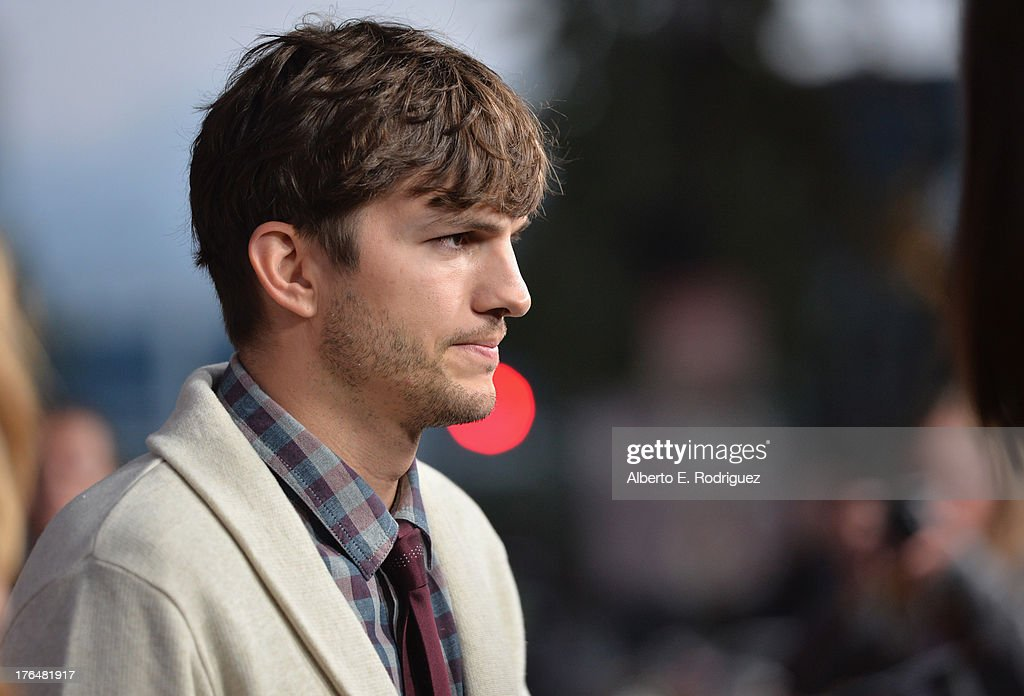 Actor <a gi-track='captionPersonalityLinkClicked' href=/galleries/search?phrase=Ashton+Kutcher&family=editorial&specificpeople=202015 ng-click='$event.stopPropagation()'>Ashton Kutcher</a> attends the screening of Open Road Films and Five Star Feature Films' 'Jobs' at Regal Cinemas L.A. Live on August 13, 2013 in Los Angeles, California.