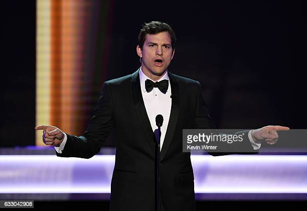 Actor Ashton Kutcher speaks onstage during The 23rd Annual Screen Actors Guild Awards at The Shrine Auditorium on January 29 2017 in Los Angeles...