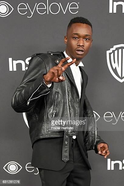 Actor Ashton Sanders attends the 18th Annual PostGolden Globes Party hosted by Warner Bros Pictures and InStyle at The Beverly Hilton Hotel on...