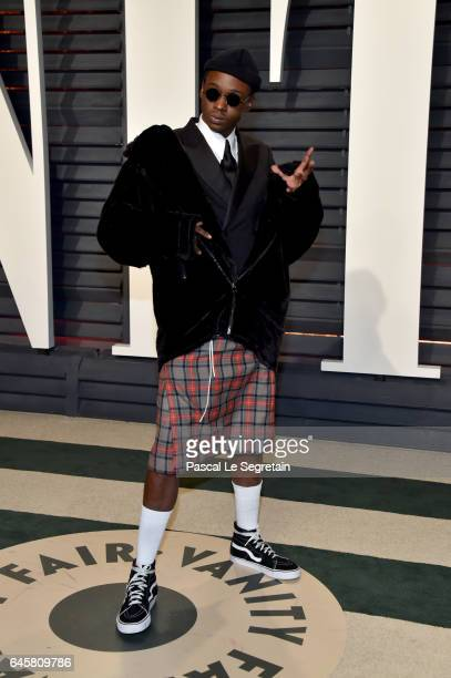 Actor Ashton Sanders attends the 2017 Vanity Fair Oscar Party hosted by Graydon Carter at Wallis Annenberg Center for the Performing Arts on February...