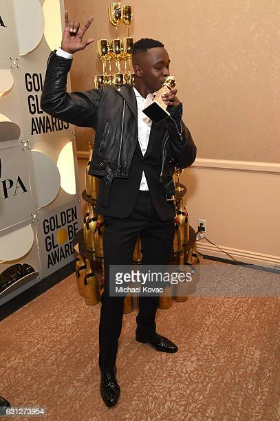 Actor Ashton Sanders attends the 74th Annual Golden Globe Awards at The Beverly Hilton Hotel on January 8 2017 in Beverly Hills California