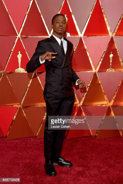 Actor Ashton Sanders attends the 89th Annual Academy Awards at Hollywood Highland Center on February 26 2017 in Hollywood California