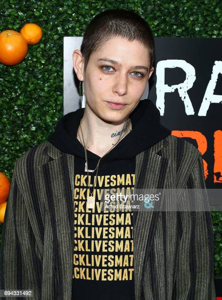 Actress Asia Kate Dillon attends 'Orange Is The New Black' season 5 celebration at Catch on June 9 2017 in New York City