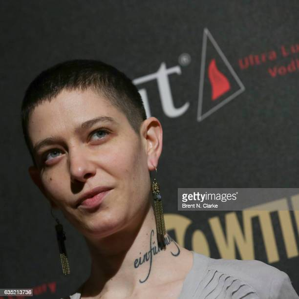Actor Asia Kate Dillon attends Showtime's 'Billions' Season 2 premiere held at Cipriani 25 Broadway on February 13 2017 in New York City