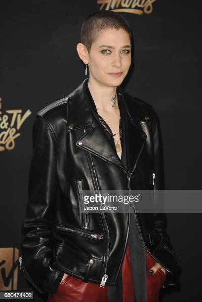 Actress Asia Kate Dillon poses in the press room at the 2017 MTV Movie and TV Awards at The Shrine Auditorium on May 7 2017 in Los Angeles California