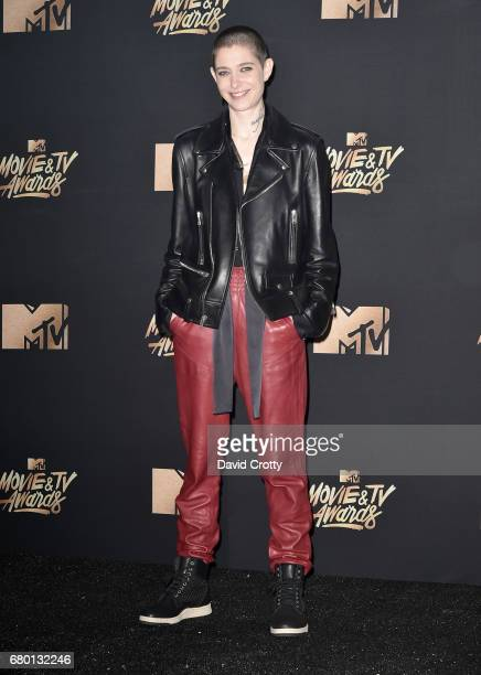 Actor Asia Kate Dillon poses in the press room during the 2017 MTV Movie And TV Awards at The Shrine Auditorium on May 7 2017 in Los Angeles...