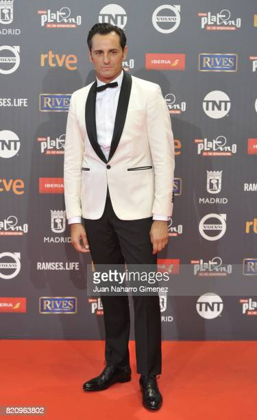 Actor Asier Eteandia attends the 'Platino Awards 2017' photocall at La Caja Magica on July 22 2017 in Madrid Spain