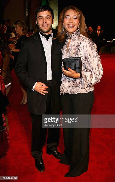 Actor Assaad Bouab and unidentified guest attend the Arabian Nights Gala and the premiere of the movie 'Whatever Lola Wants' during day three of the...