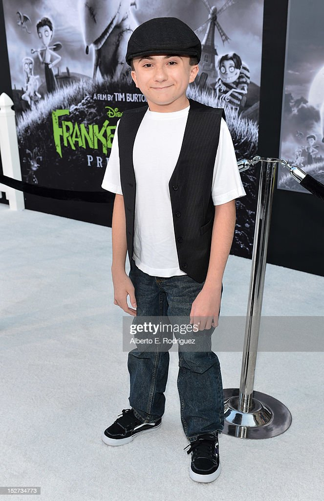 Actor Atticus Shaffer arrives at Disney's 'Frankenweenie' premiere at the El Capitan Theatre on September 24, 2012 in Hollywood, California.