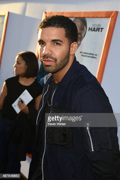Actor Aubrey Graham aka 'Drake' attends the Los Angeles premiere of Warner Bros Pictures' 'Get Hard' at TCL Chinese Theatre IMAX on March 25 2015 in...