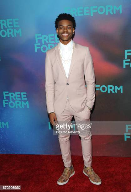 Actor Aubrey Joseph attends Freeform 2017 Upfront at Hudson Mercantile on April 19 2017 in New York City