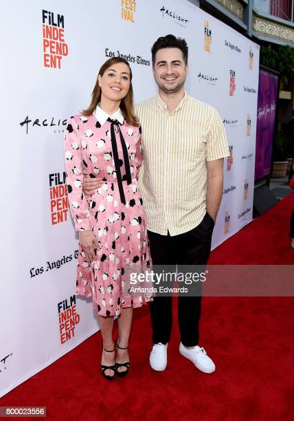 Actor Aubrey Plaza and filmmaker Matt Spicer attend the Closing Night Screening of 'Ingrid Goes West' during the 2017 Los Angeles Film Festival at...