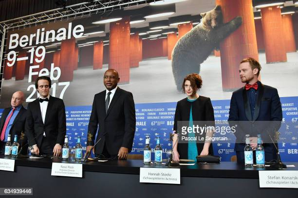 Actor August Diehl Director Raoul PeckActress Hannah Steele and Stefan Konarske attend the 'The Young Karl Marx' press conference during the 67th...