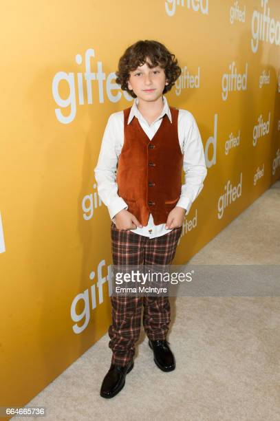 Actor August Maturo arrives at the premiere of Fox Searchlight Pictures' 'Gifted' at Pacific Theaters at the Grove on April 4 2017 in Los Angeles...