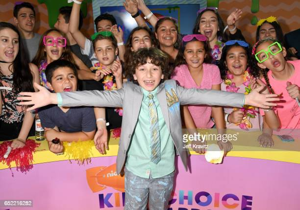 Actor August Maturo at Nickelodeon's 2017 Kids' Choice Awards at USC Galen Center on March 11 2017 in Los Angeles California
