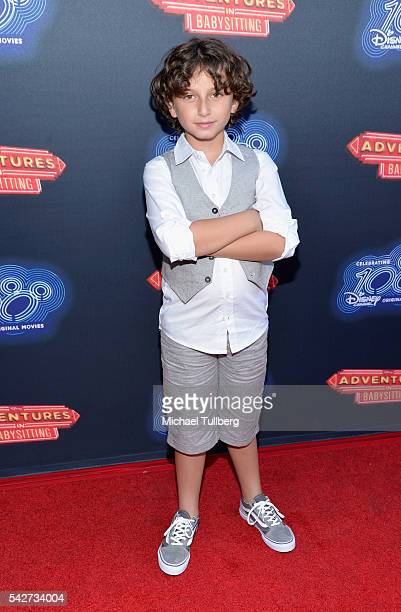 Actor August Maturo attends the premiere of 100th Disney Channel's Original Movie 'Adventures In Babysitting' and celebration of all DCOMS at...