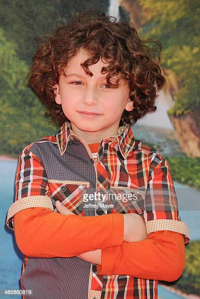 Actor August Maturo attends the premiere of DisneyToon Studios' 'The Pirate Fairy' at Walt Disney Studios on March 22 2014 in Burbank California
