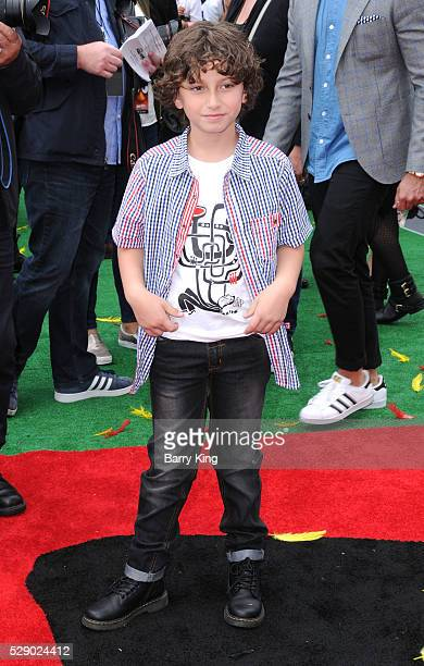 Actor August Maturo attends the premiere of Sony Pictures' 'Angry Birds' at Regency Village Theatre on May 7 2016 in Westwood California