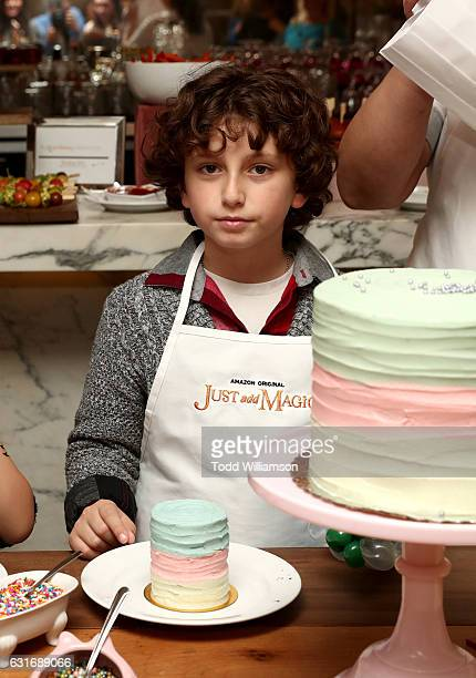 Actor August Maturo attends the second season premiere of Amazon Original Series 'Just Add Magic' at Au Fudge on January 14 2017 in West Hollywood...