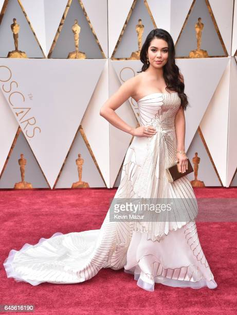 Actor Auli'i Cravalho attends the 89th Annual Academy Awards at Hollywood Highland Center on February 26 2017 in Hollywood California