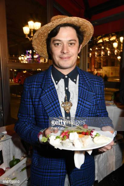 Actor Aurelien Wiik attends 'Apero Mecs A Legumes' Party Hosted by Grand Seigneur Magazine at the Bistrot Marguerite on March 22 2017 in Paris France