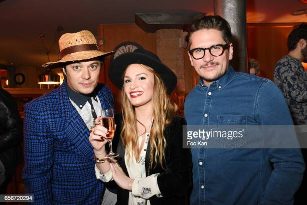 Actor ÊAurelien Wiik PR Chloe Clor and Mathias Van Khache attend 'Apero Mecs A Legumes' Party Hosted by Grand Seigneur Magazine at the Bistrot...