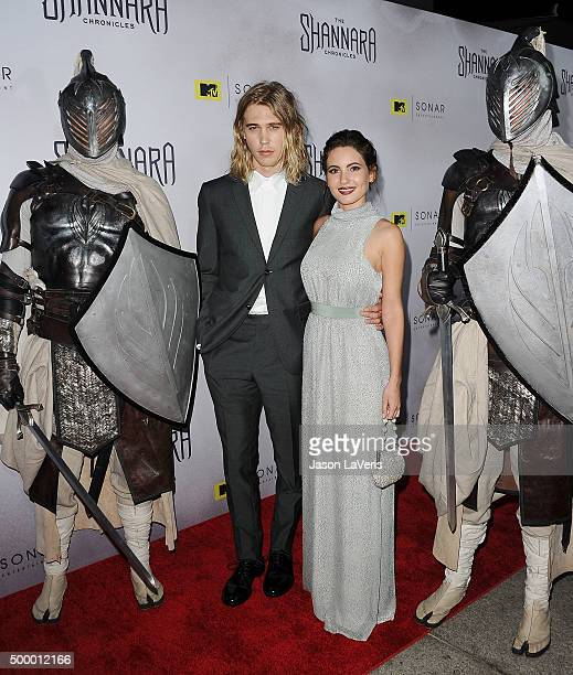Actor Austin Butler and actress Ivana Baquero attend the premiere of 'The Shannara Chronicles' at iPic Theaters on December 4 2015 in Los Angeles...