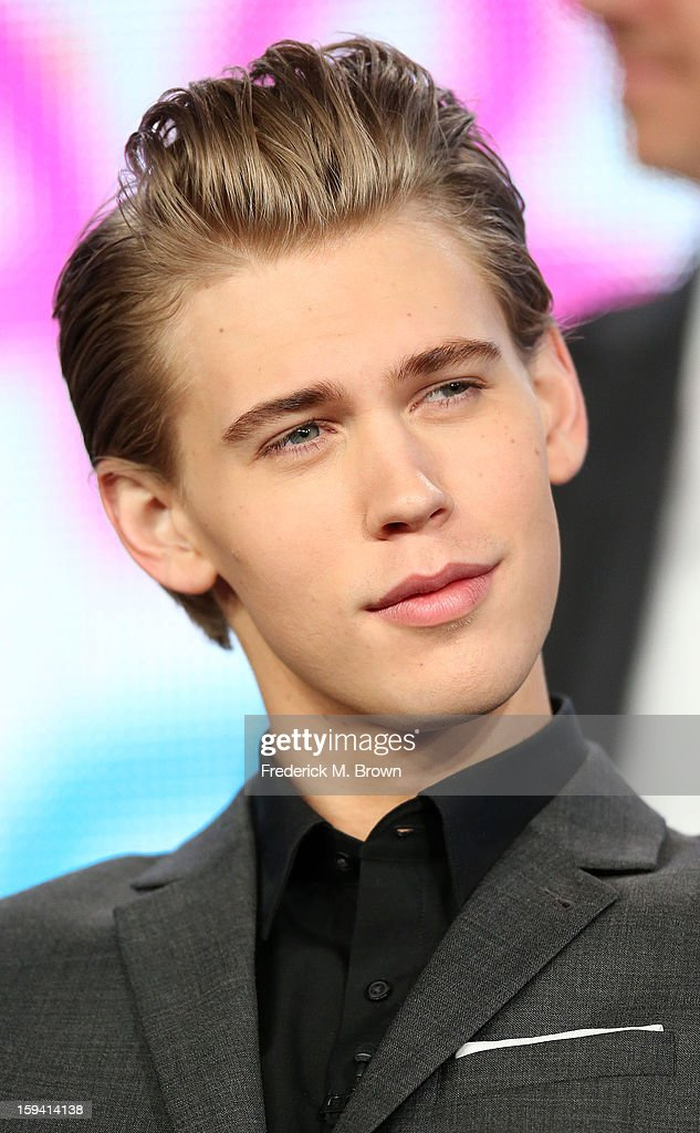 Actor Austin Butler of the television show 'The Carrie Diaries' speaks during the CW Network portion of the 2013 Winter Television Critics Association Press Tour at the Langham Huntington Hotel & Spa on January 13, 2013 in Pasadena, California.